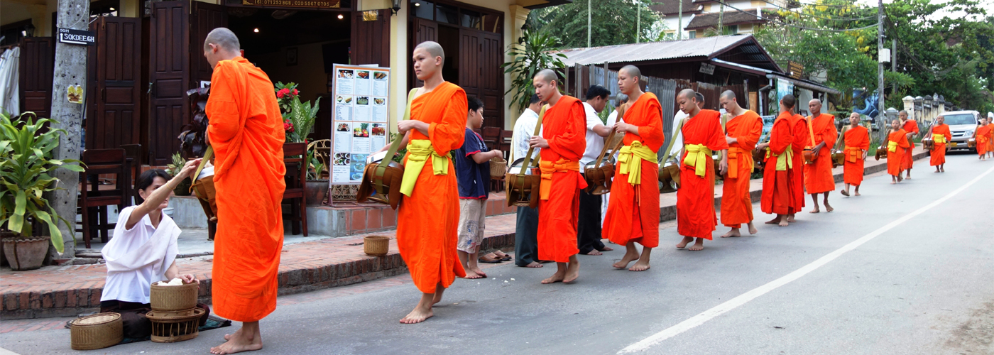Laos Monk - Morning alms